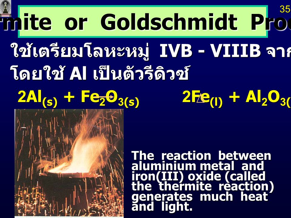 Thermite or Goldschmidt Process