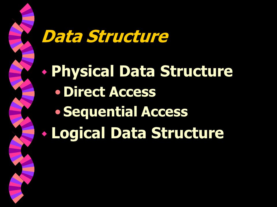 Data Structure Physical Data Structure Logical Data Structure