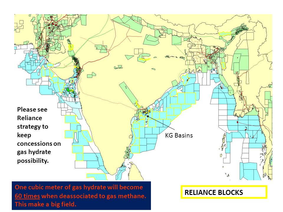 Please see Reliance strategy to keep concessions on gas hydrate possibility.