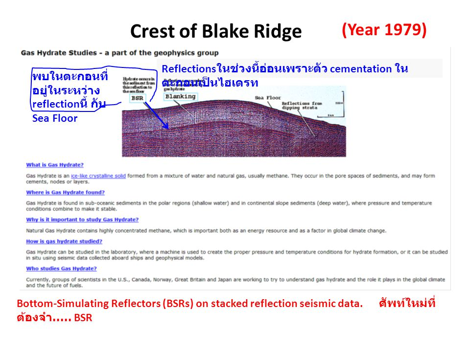 Crest of Blake Ridge (Year 1979)