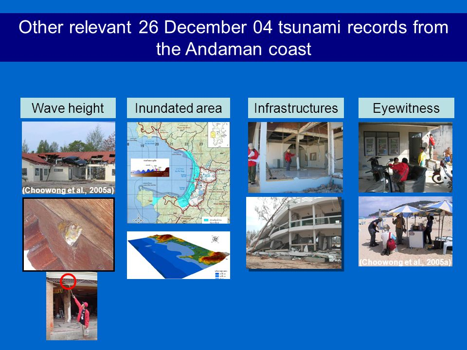 Other relevant 26 December 04 tsunami records from the Andaman coast