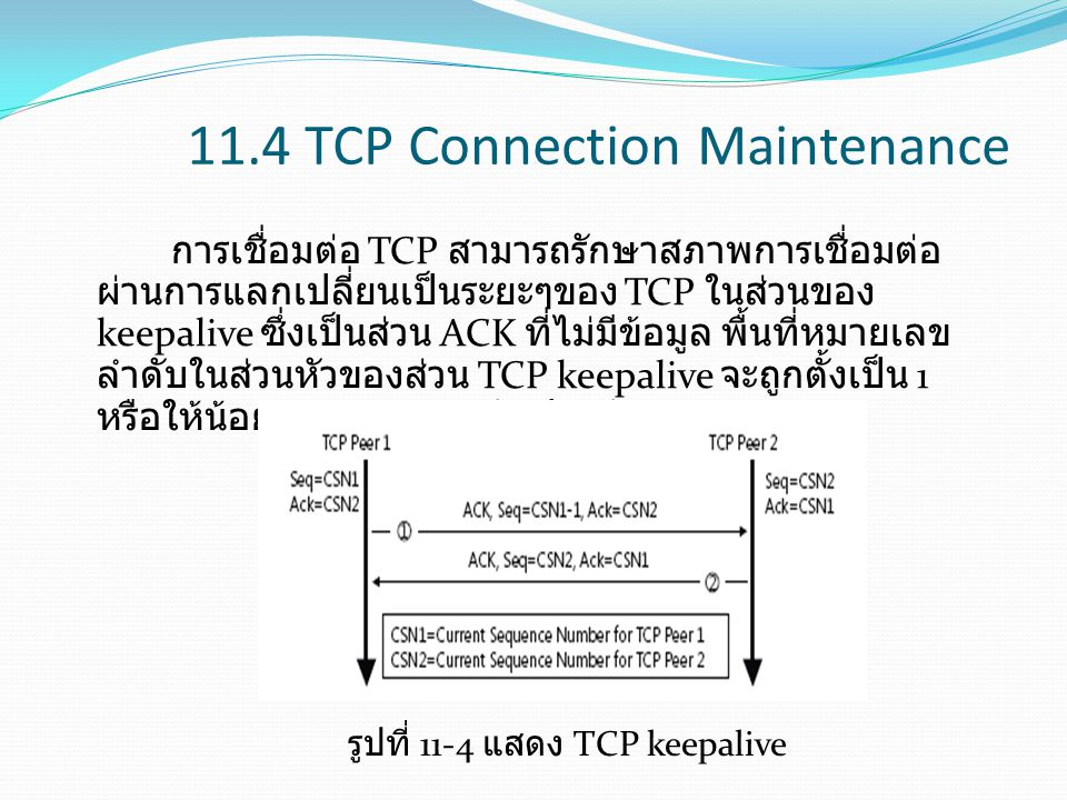 11.4 TCP Connection Maintenance