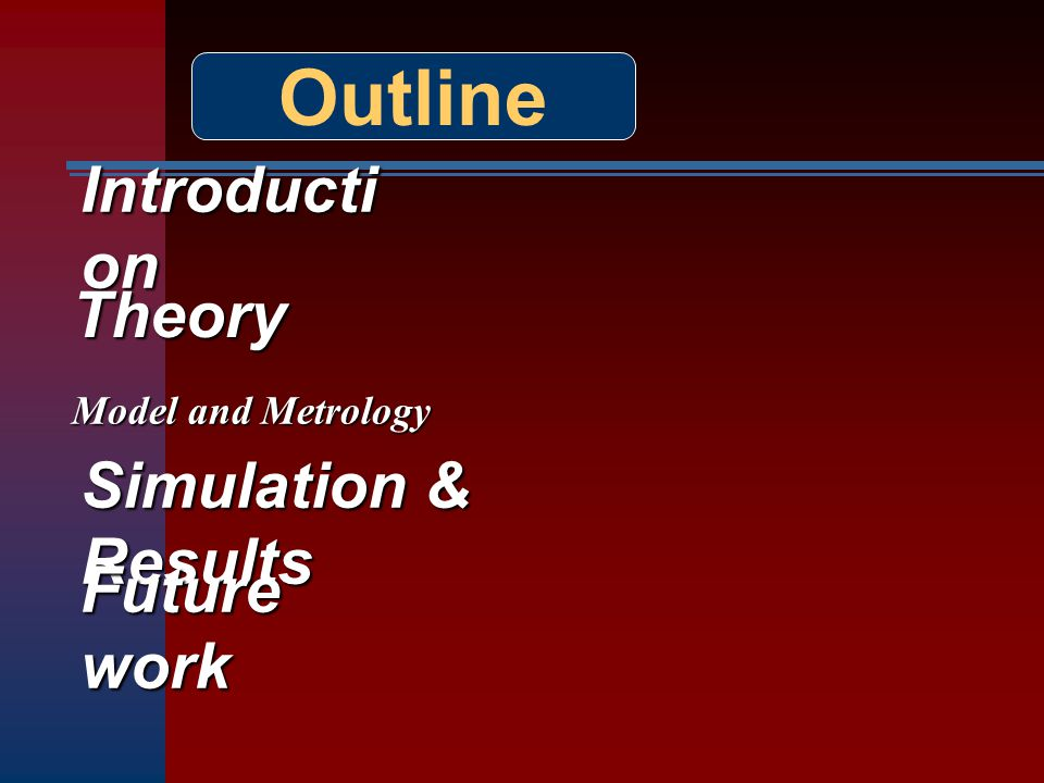 Outline Introduction Theory Simulation & Results Future work