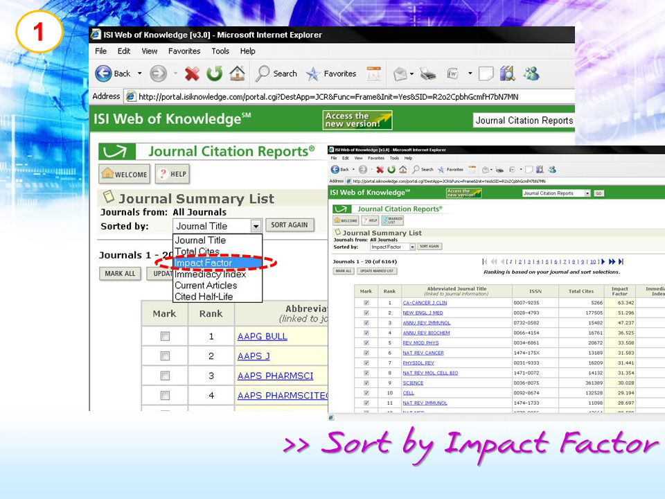 >> Sort by Impact Factor
