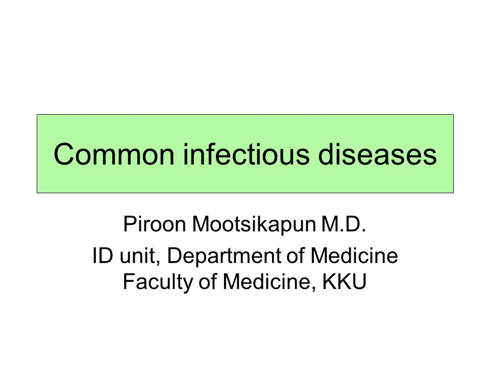 Common infectious diseases