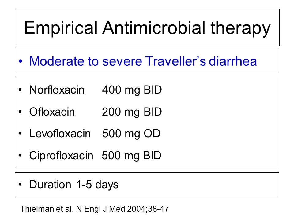 Empirical Antimicrobial therapy