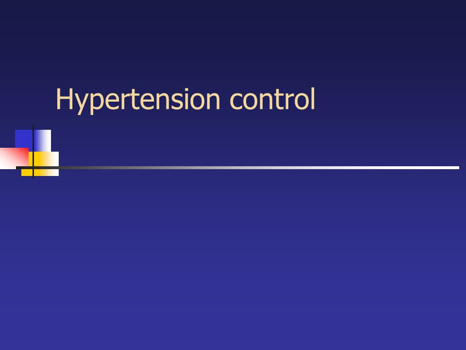Hypertension control
