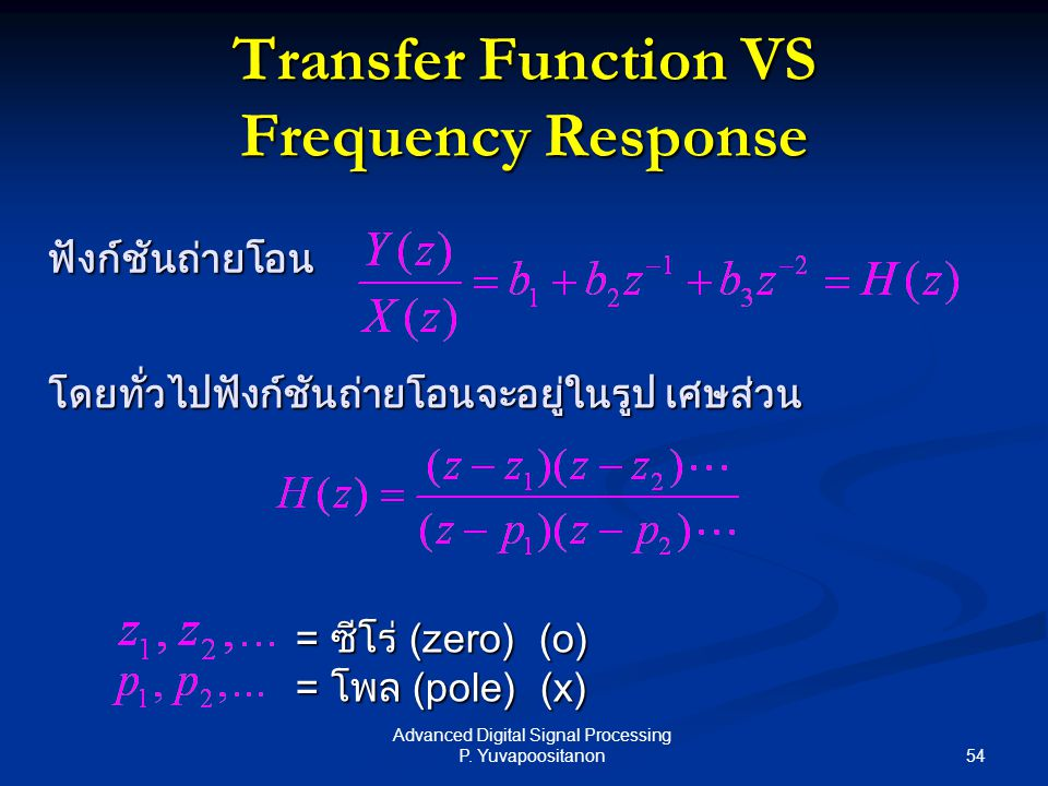 Transfer Function VS Frequency Response