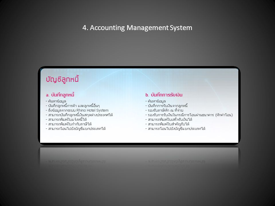 4. Accounting Management System
