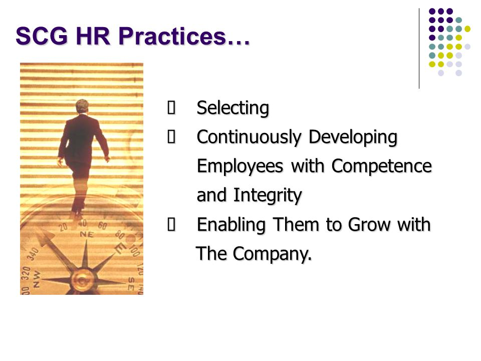 SCG HR Practices… Selecting