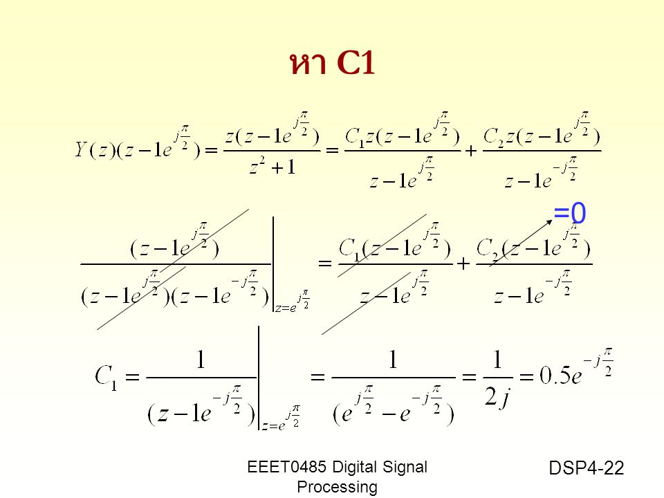 หา C1 =0 EEET0485 Digital Signal Processing