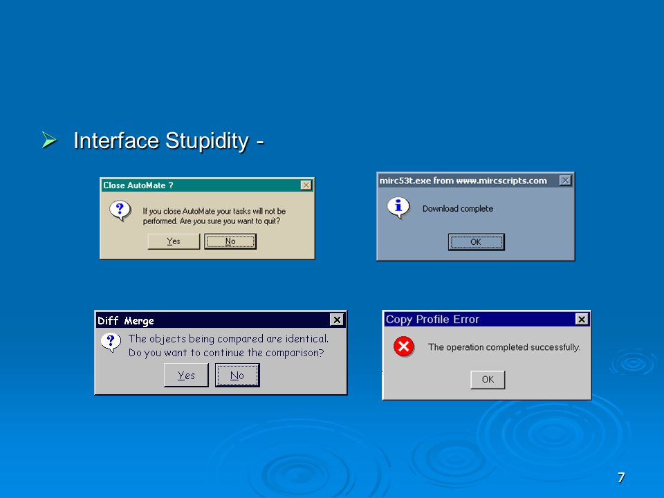 Interface Stupidity -