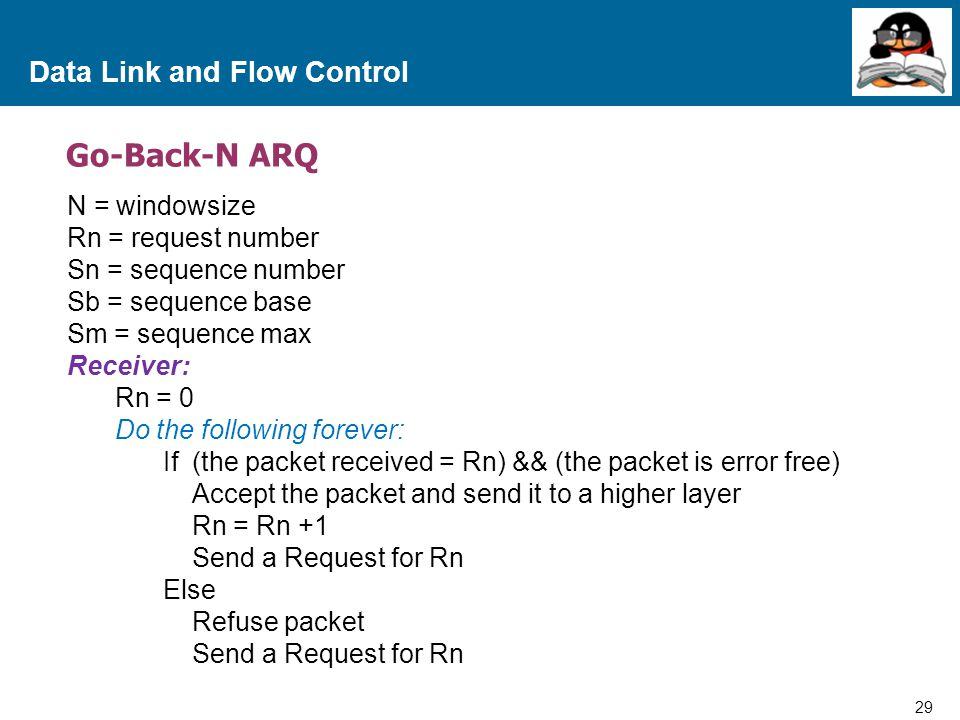 Data Link and Flow Control