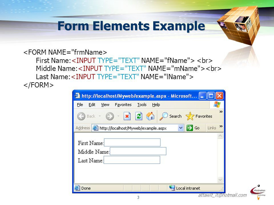Form Elements Example