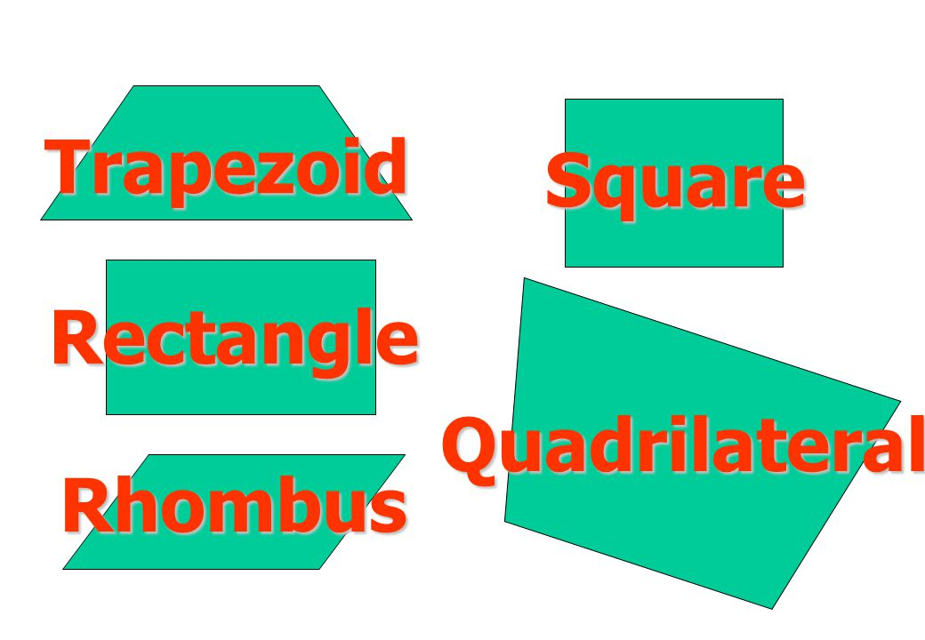 Trapezoid Square Rectangle Quadrilateral Rhombus