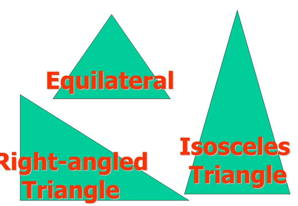 Equilateral Isosceles Triangle Right-angled Triangle