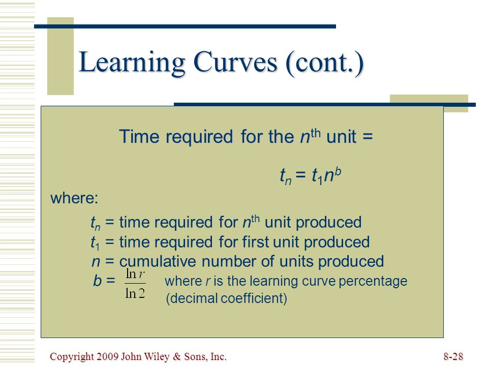 Learning Curves (cont.)