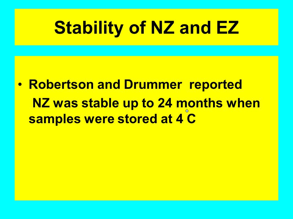 Stability of NZ and EZ Robertson and Drummer reported