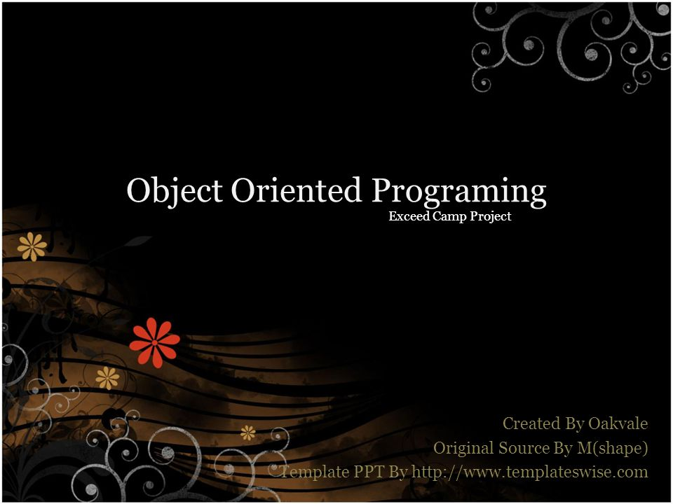 Object Oriented Programing
