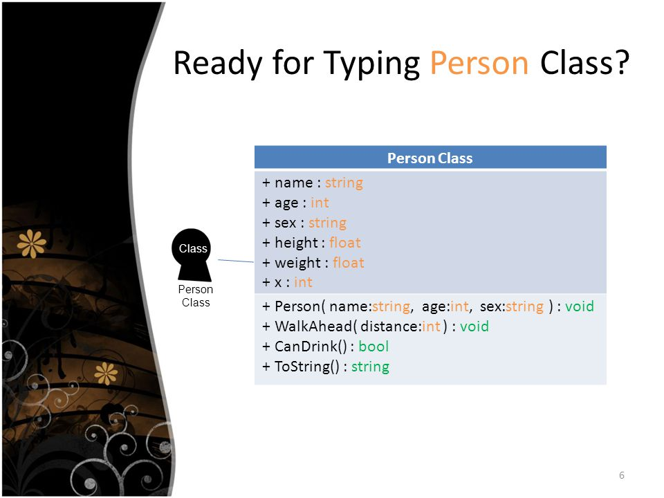 Ready for Typing Person Class