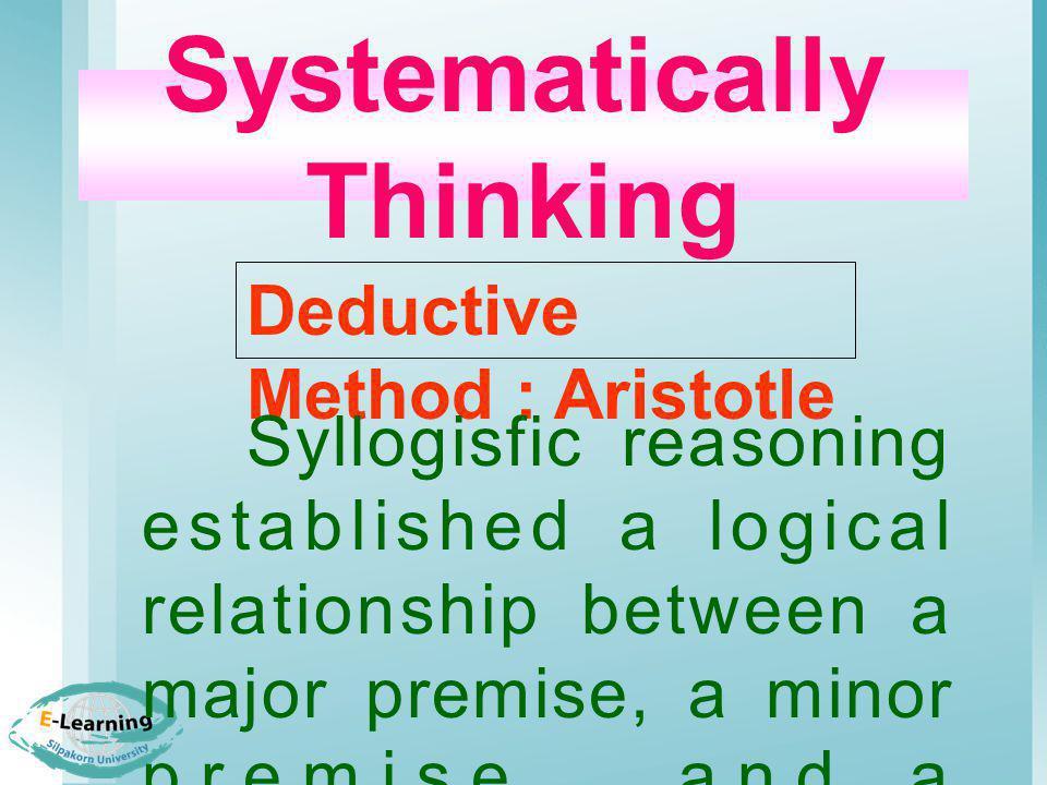 Systematically Thinking