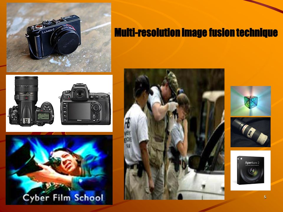 Multi-resolution image fusion technique