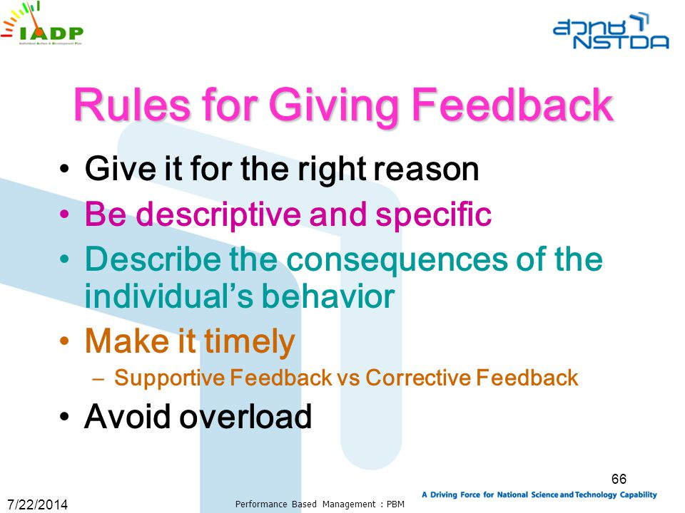 Rules for Giving Feedback