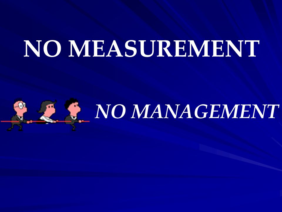 NO MEASUREMENT NO MANAGEMENT