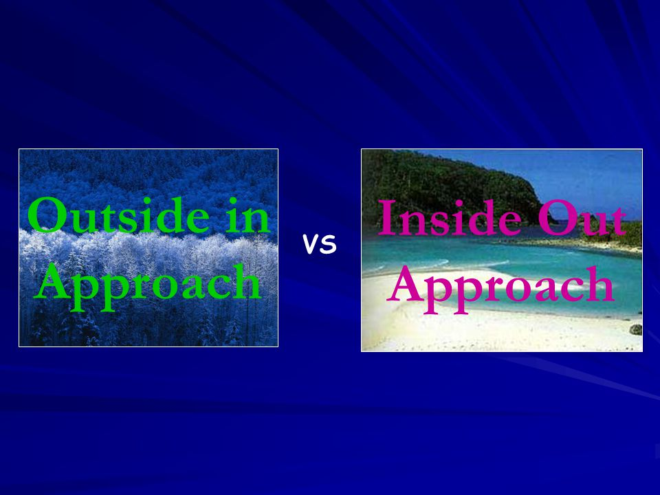 Outside in Approach Inside Out Approach