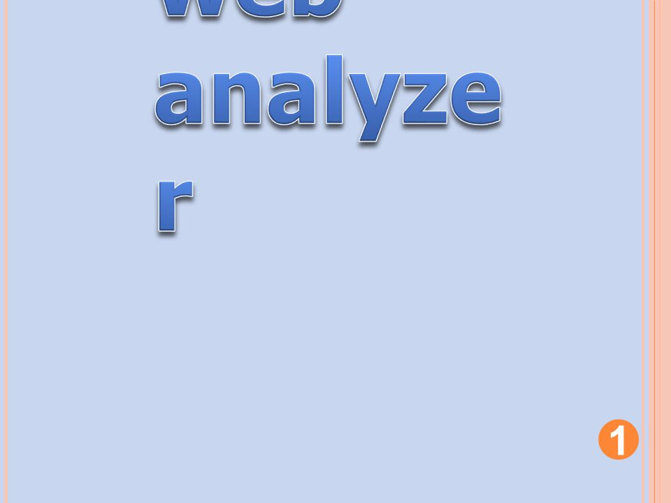 web analyzer