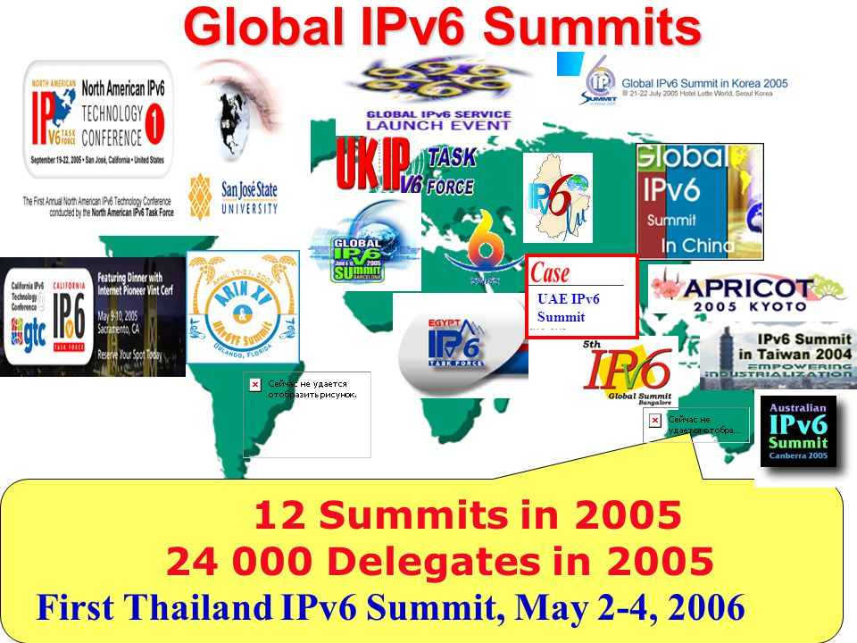 First Thailand IPv6 Summit, May 2-4, 2006