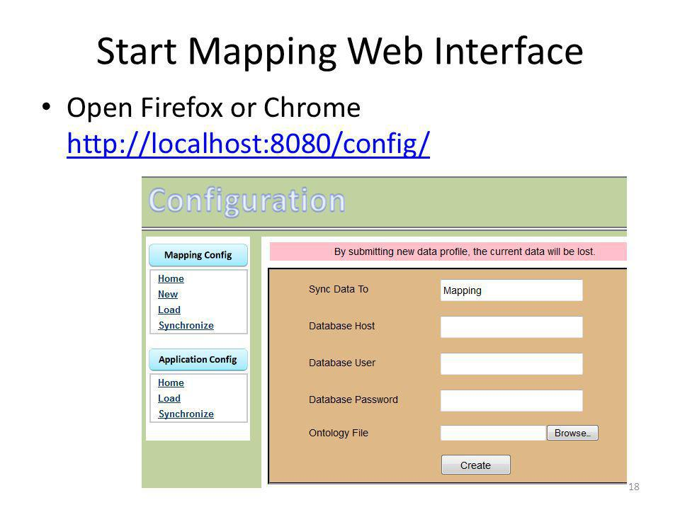 Start Mapping Web Interface