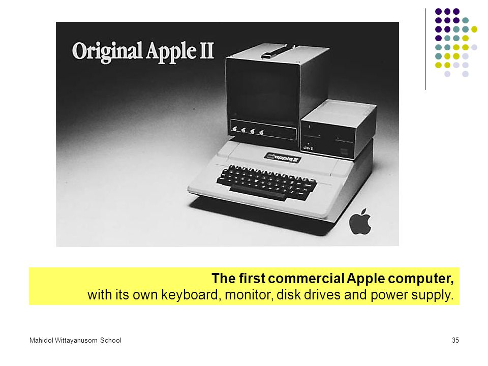 The first commercial Apple computer,