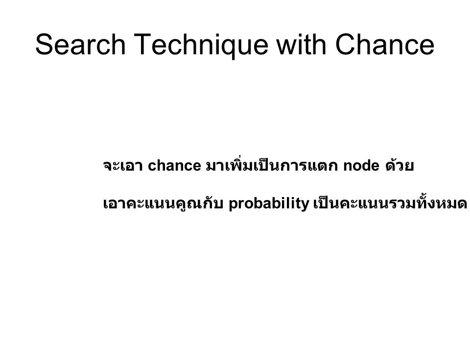 Search Technique with Chance
