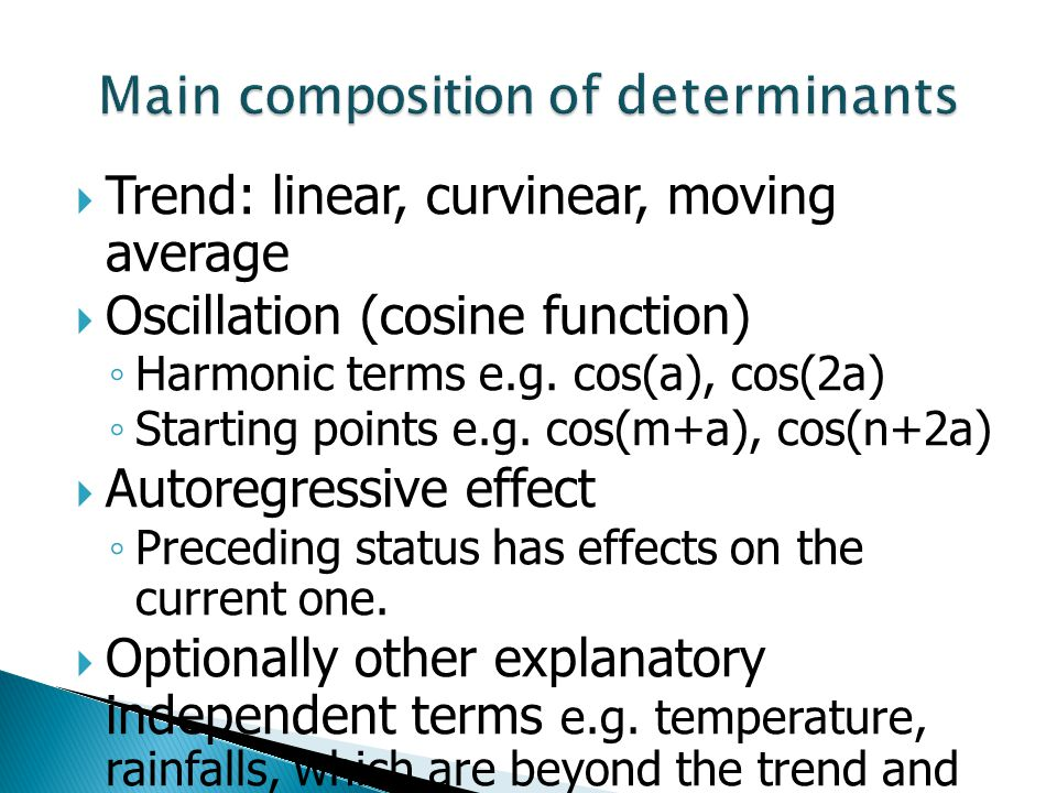 Main composition of determinants