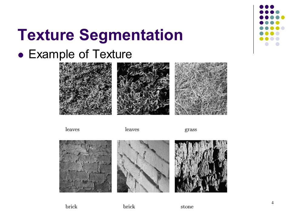 Texture Segmentation Example of Texture