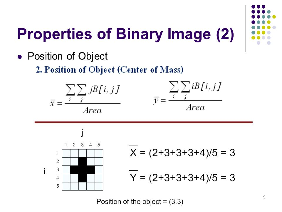 Properties of Binary Image (2)