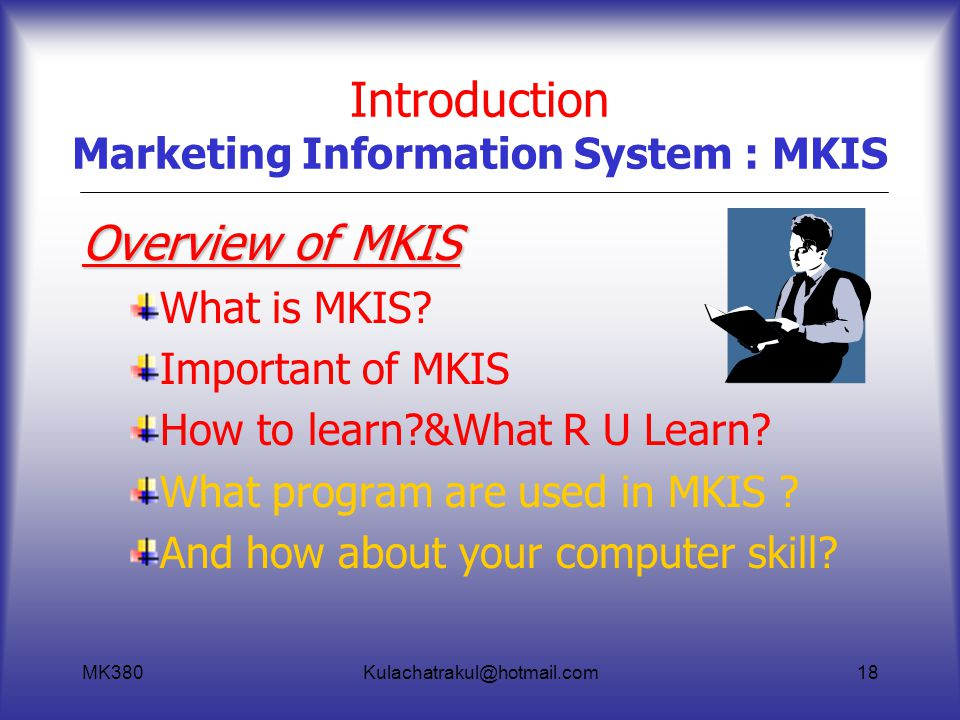 Introduction Marketing Information System : MKIS