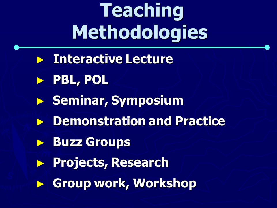 Teaching Methodologies