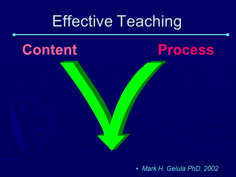 Effective Teaching Content Process Mark H. Gelula PhD, 2002