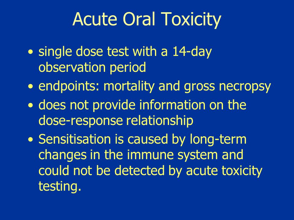 Acute Oral Toxicity single dose test with a 14-day observation period