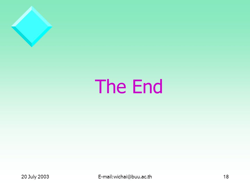 The End 20 July July 2001