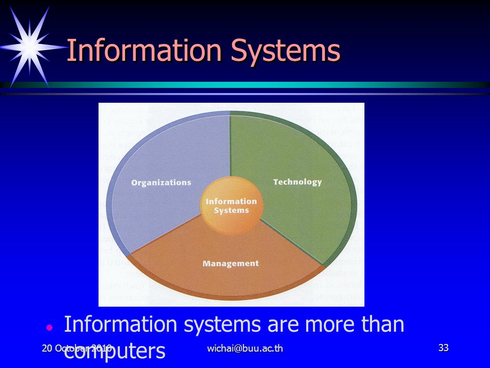 Information Systems Information systems are more than computers