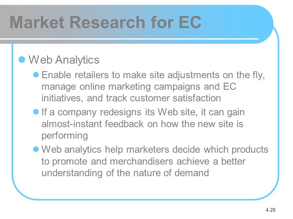 Market Research for EC Web Analytics