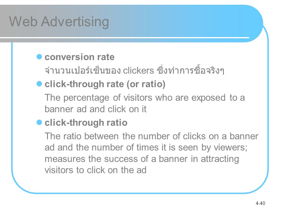 Web Advertising conversion rate