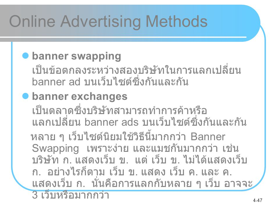 Online Advertising Methods