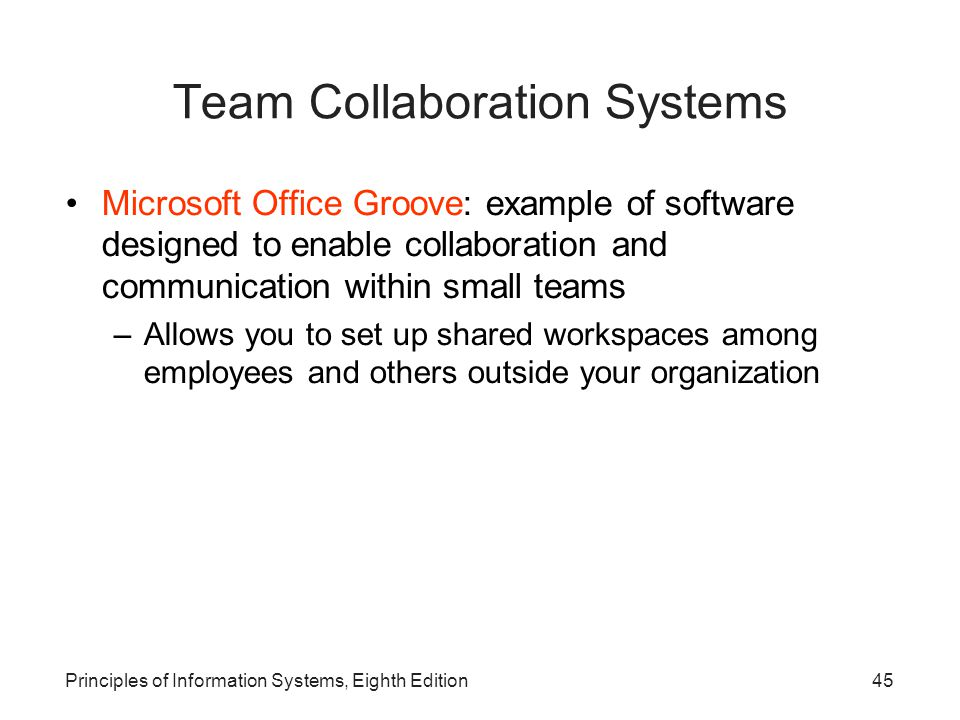 Team Collaboration Systems