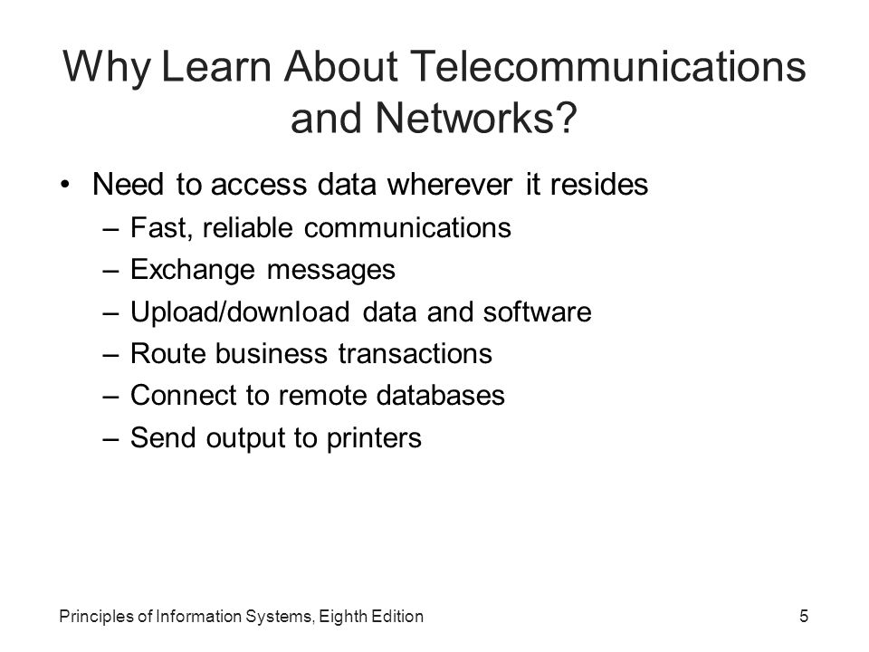 Why Learn About Telecommunications and Networks