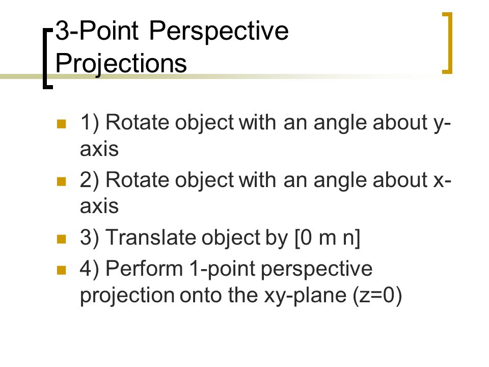 3-Point Perspective Projections