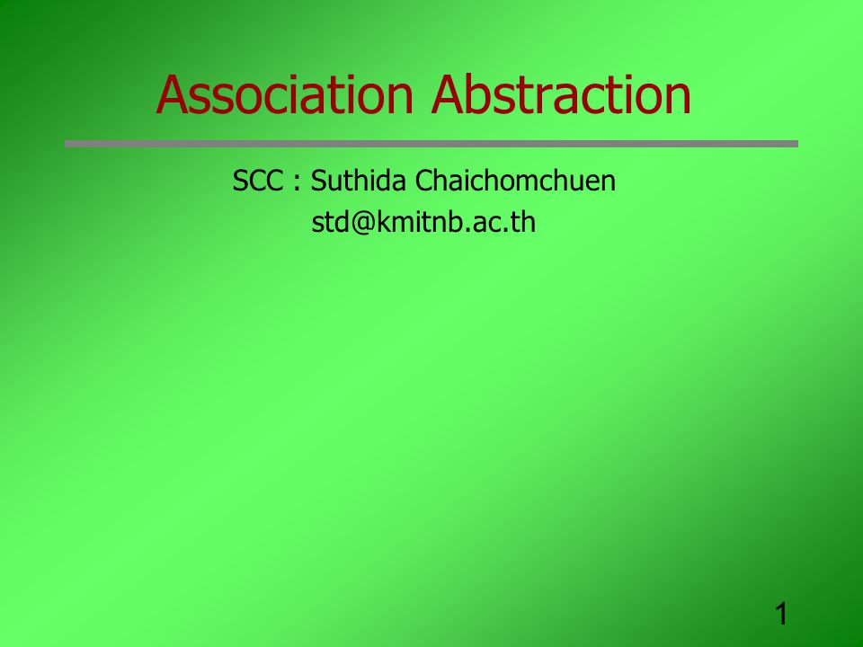 Association Abstraction